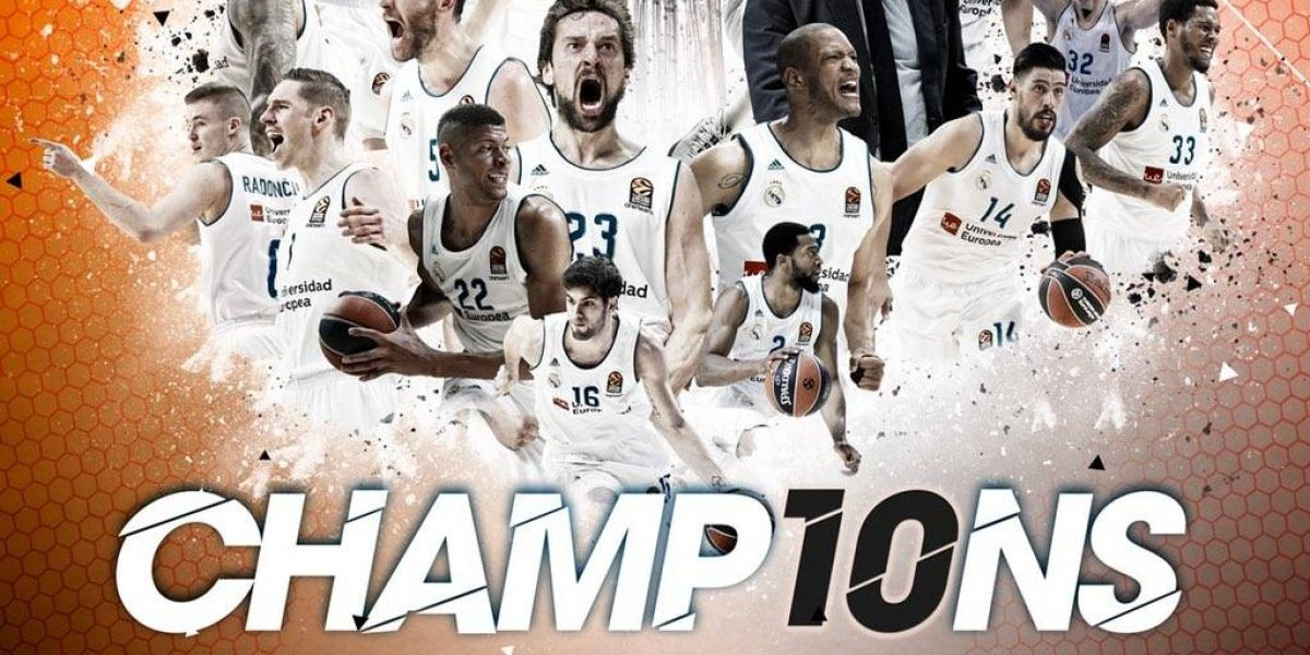 Mexicano Gustavo Ayón y Real Madrid son campeones de la Euroleague 2018