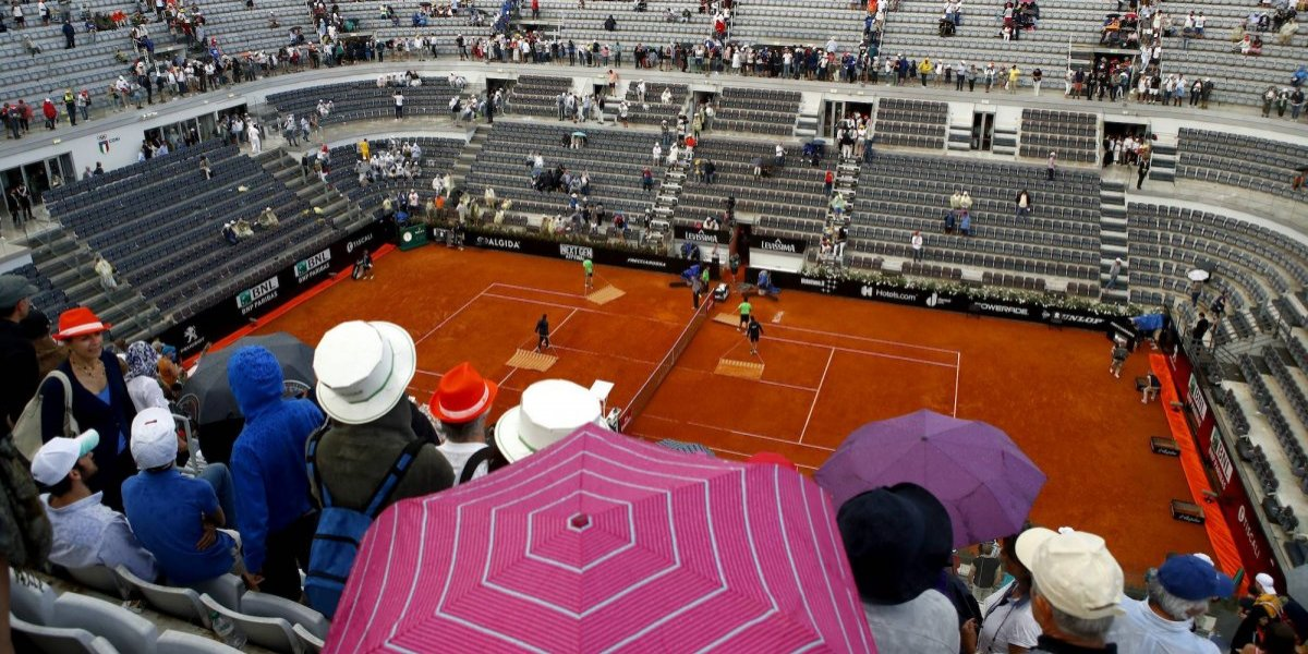 Suspenden final del Abierto de Roma entre Nadal y Zverev