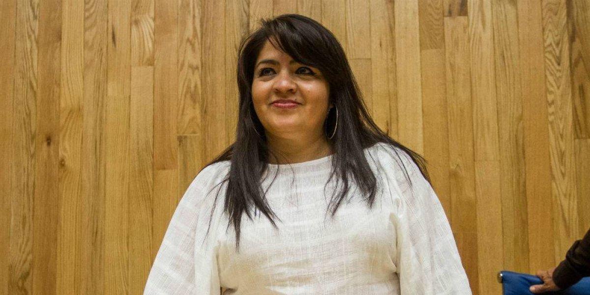 Ella es Nestora Salgado, ex líder comunitaria encarcelada casi tres años sin pruebas