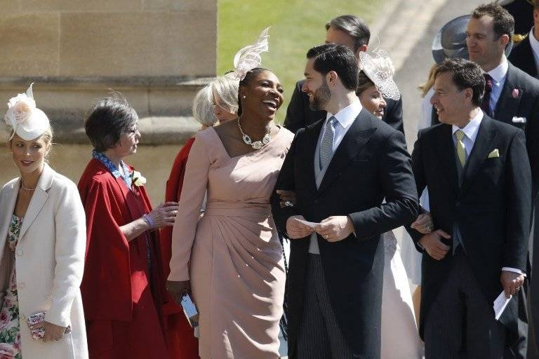 Serena Williams asiste a la boda real