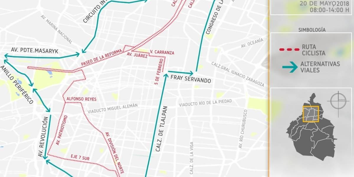 Recomiendan vías alternas por avenidas cerradas en la CDMX