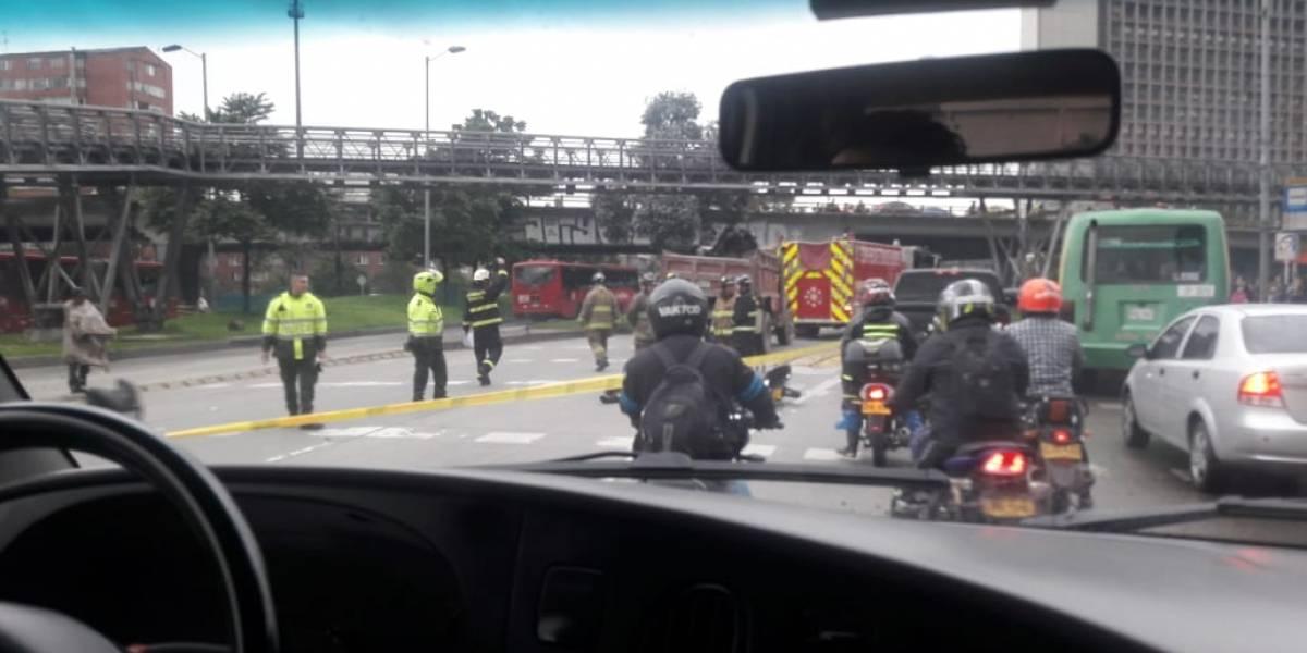 Trágico accidente en la carrera 30 con calle 26 en Bogotá deja un muerto