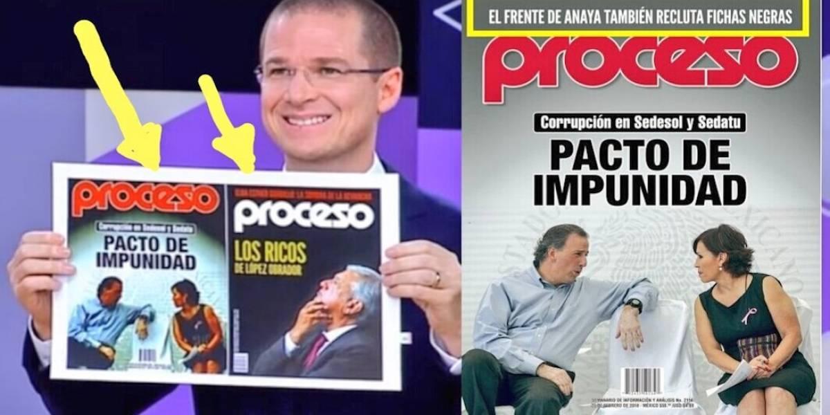 Denuncia Proceso que Anaya editó portada que usó contra AMLO