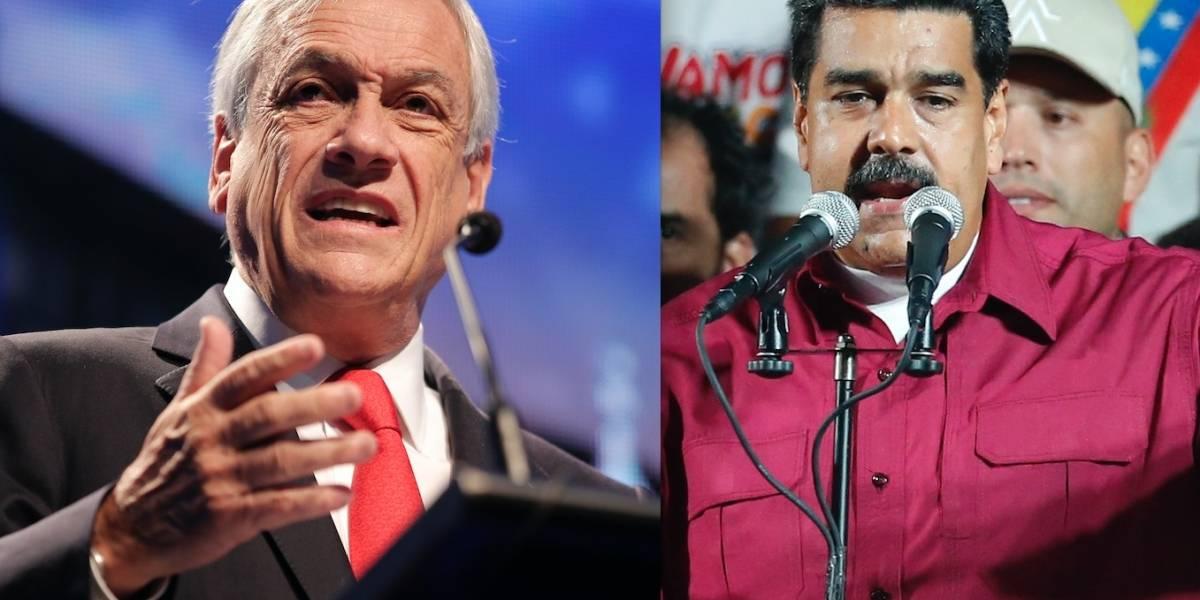 """Gobierno de Chile condena la """"dictadura de Maduro"""" y elección """"carente de legitimidad"""""""