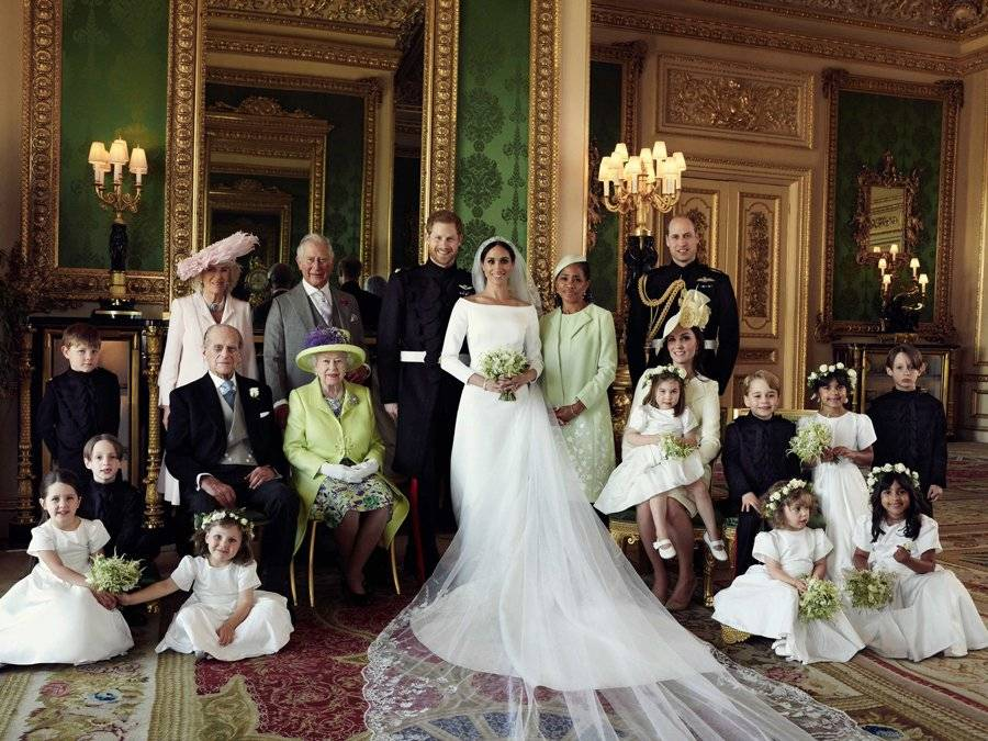 Fotografía de la familia real