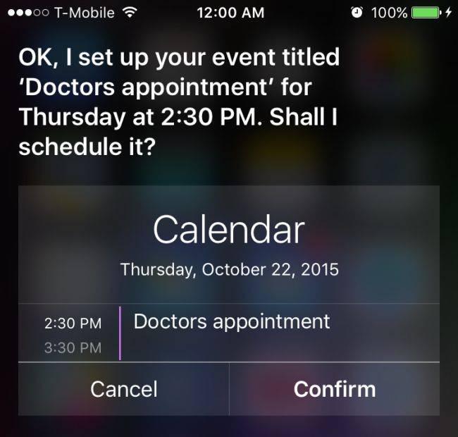 Siri como asistente