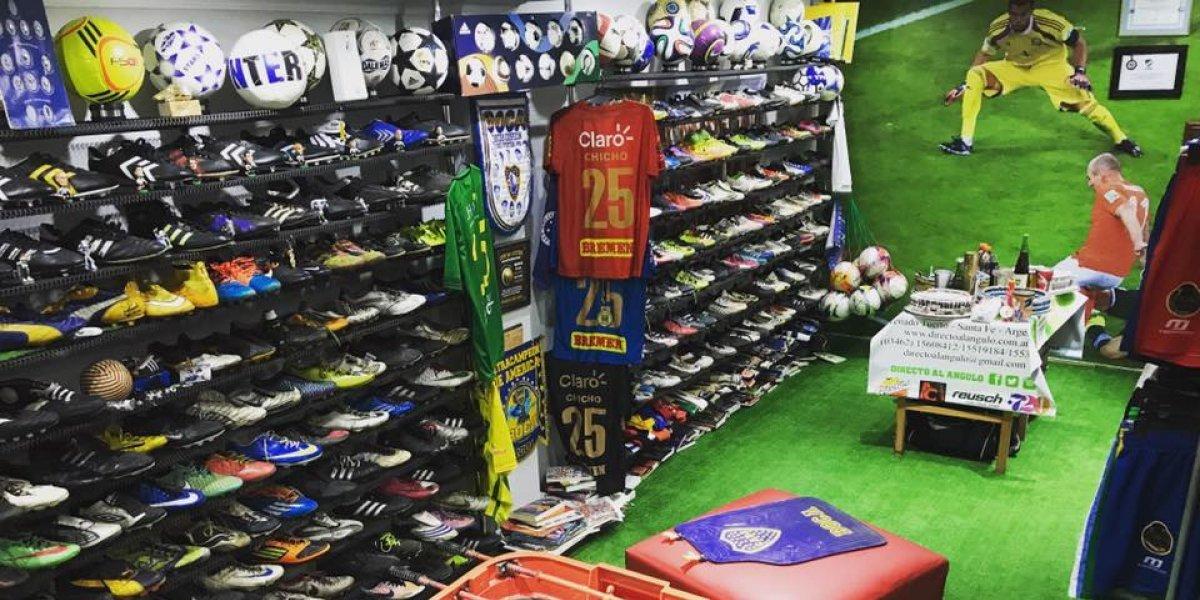El futbolista de Liga Nacional que convirtió sus recuerdos en un espectacular museo