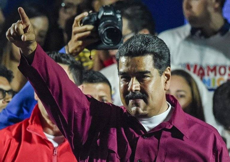 Nicolás Maduro celebra la reelección