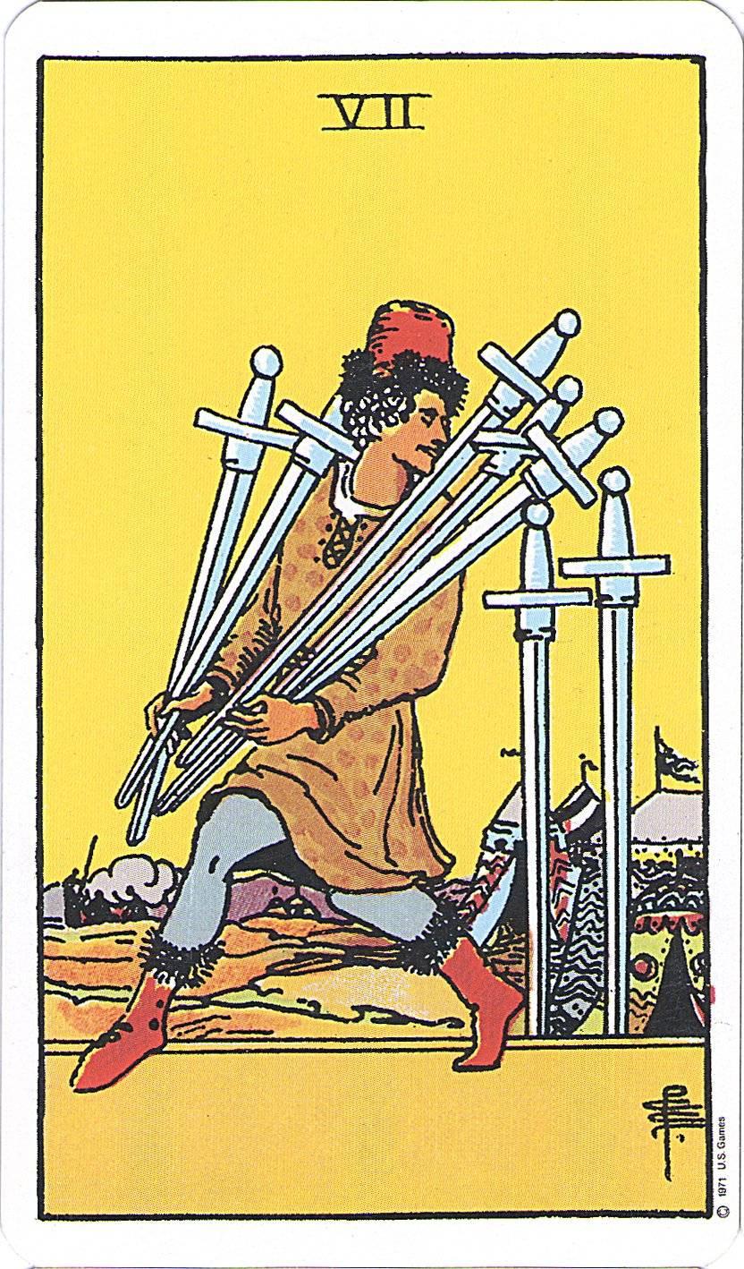 siete de espadas