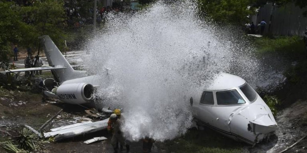 EN IMÁGENES. Seis estadounidenses heridos tras accidente de avión en Honduras