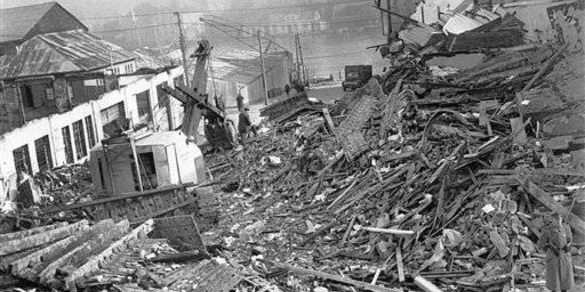 Valdivia 1960, cuando el mundo pareció acabarse: 37 terremotos juntos, más de 8 minutos temblando, intensidad histórica de 9,5, una explosión volcánica y un tsunami