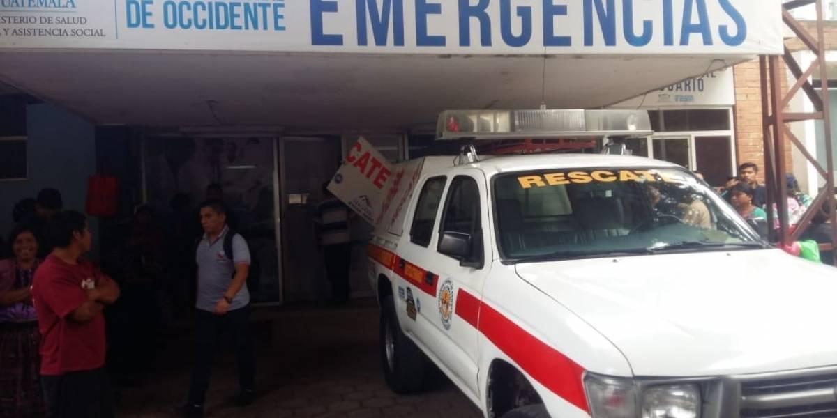 Ascensor del hospital de Quetzaltenango se desploma