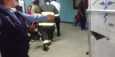ascensor se desploma en hospital de Quetzaltenango
