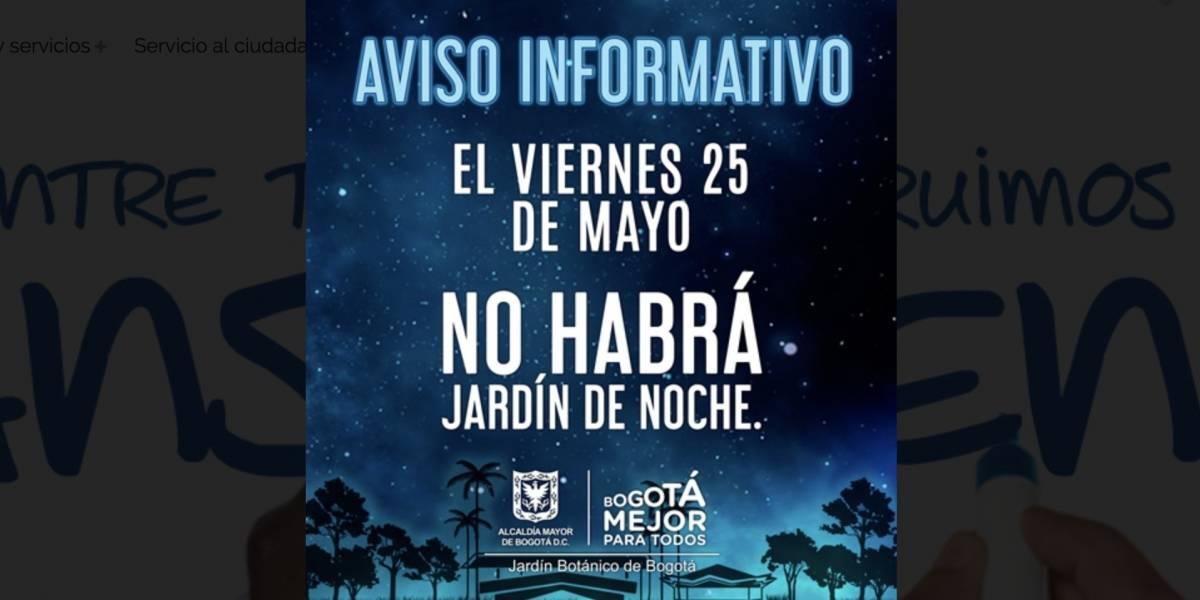 El Jardín Botánico no abrirá sus puertas este viernes en la noche debido a las fuertes lluvias