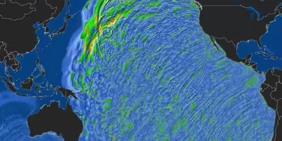 Impactante registro: así avanzó el devastador tsunami en todo el mundo tras el megaterremoto de Valdivia