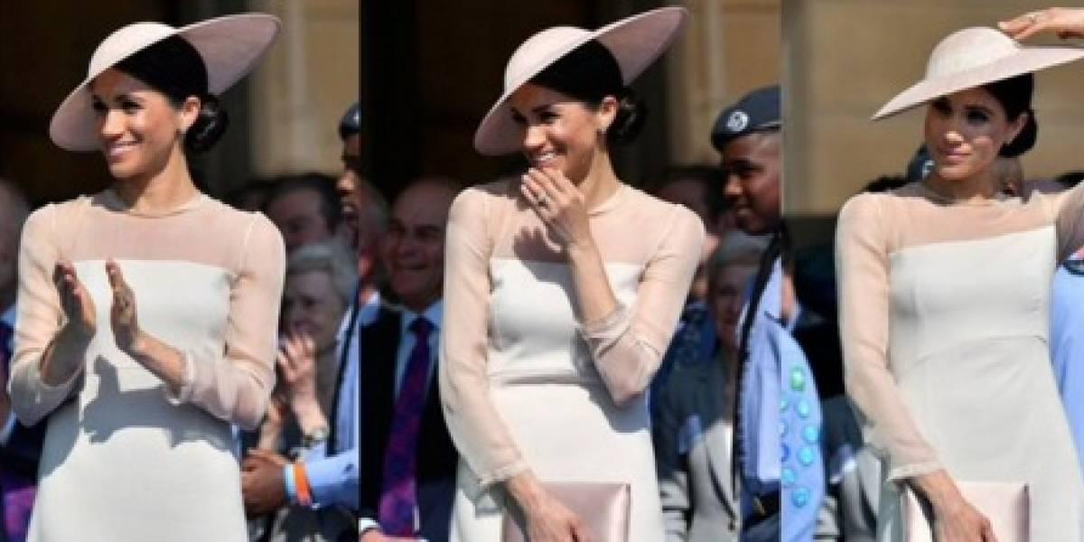 Afirman en redes que Meghan Markle está embarazada por el ajuste de sus vestidos