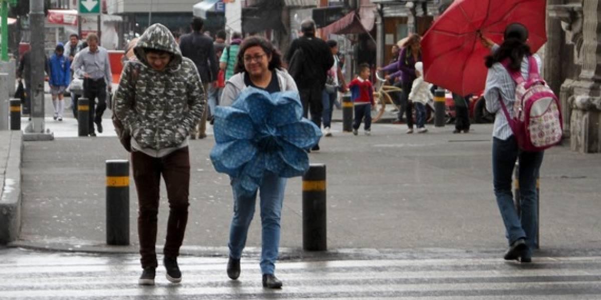 Emiten alerta amarilla por lluvia y granizo en siete delegaciones