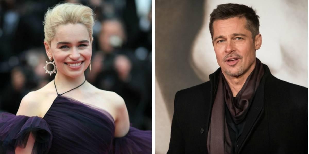 Brad Pitt ofreció dinero en una subasta para tener una cita con Emilia Clarke