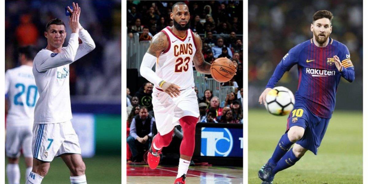Cristiano, LeBron y Messi, los deportistas más famosos del mundo