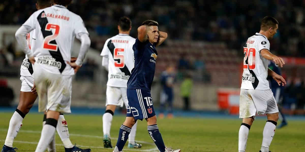 La U completó el papelón y quedó fuera hasta de la Sudamericana tras caer ante Vasco