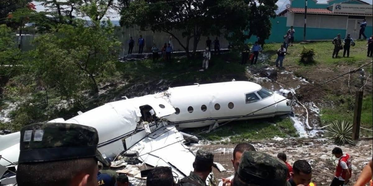 Avión se estrella en el aeropuerto de Tegucigalpa