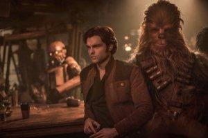Han Solo y Chewbacca, personajes de la serie Star Wars.