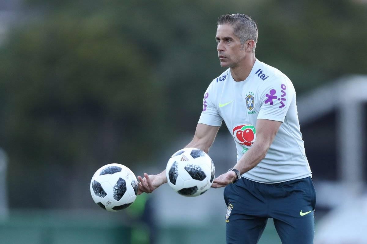 Auxiliar técnico Sylvinho Lucas Figueiredo/CBF