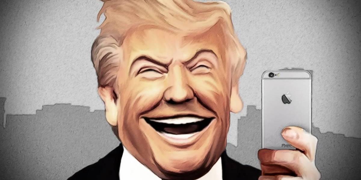 Trump ya usa iPhone pero aún no sigue los protocolos de seguridad