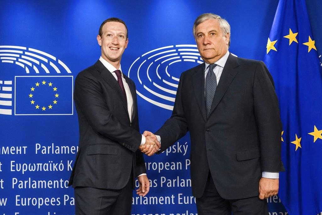 Mark Zuckerberg y Antonio Tajani
