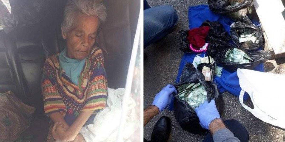 Mulher que vivia na rua morre e autoridades descobrem fortuna guardada
