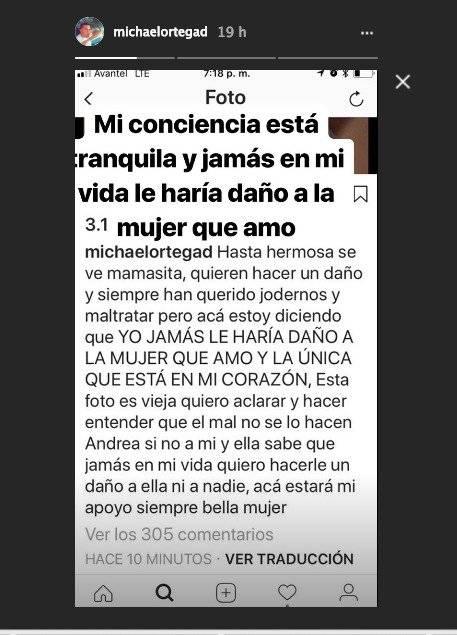 Mensaje de Michael Ortega