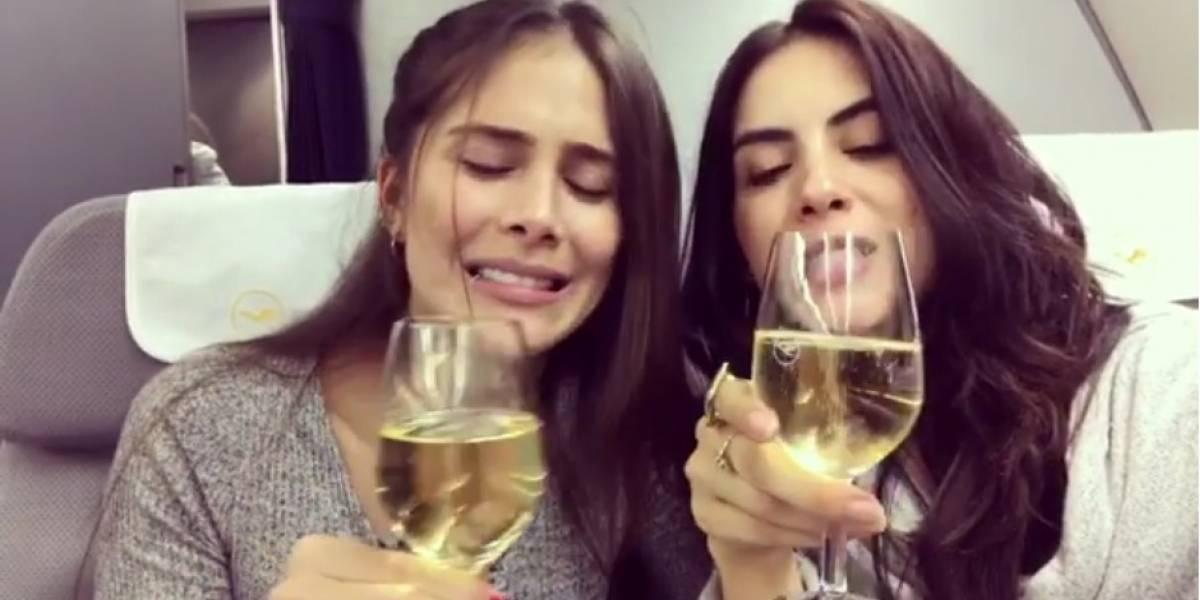 ¿Jéssica Cediel y Greeicy Rendón hicieron el oso en avión?