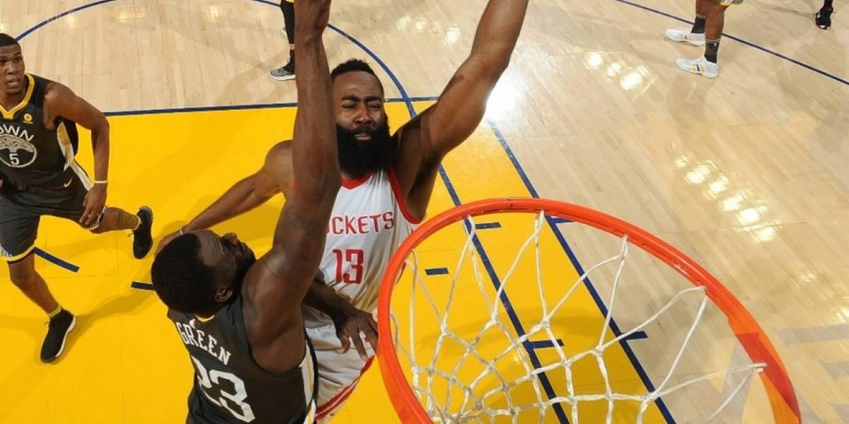 NBA: Houston Rockets da el batacazo y con un Harden intratable igualó la serie ante Golden State Warriors