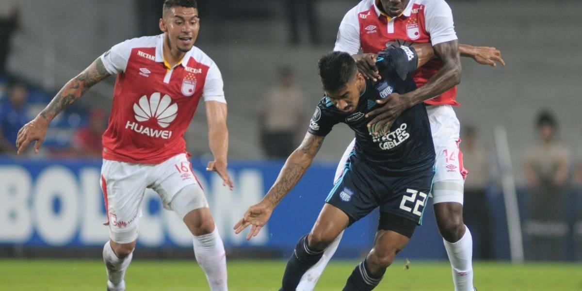 Emelec perdió 3-0 ante Santa Fe en la Copa Libertadores
