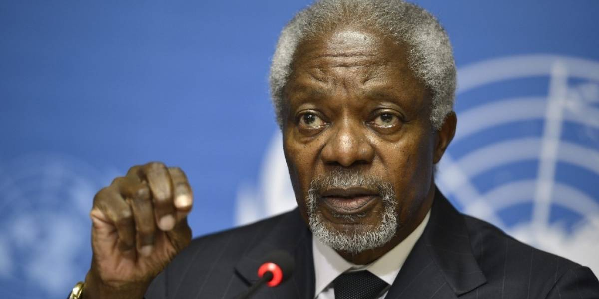 Advierte Kofi Annan impacto de violencia en la democracia mexicana