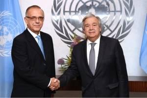 Iván Velásquez y Antonio Guterres