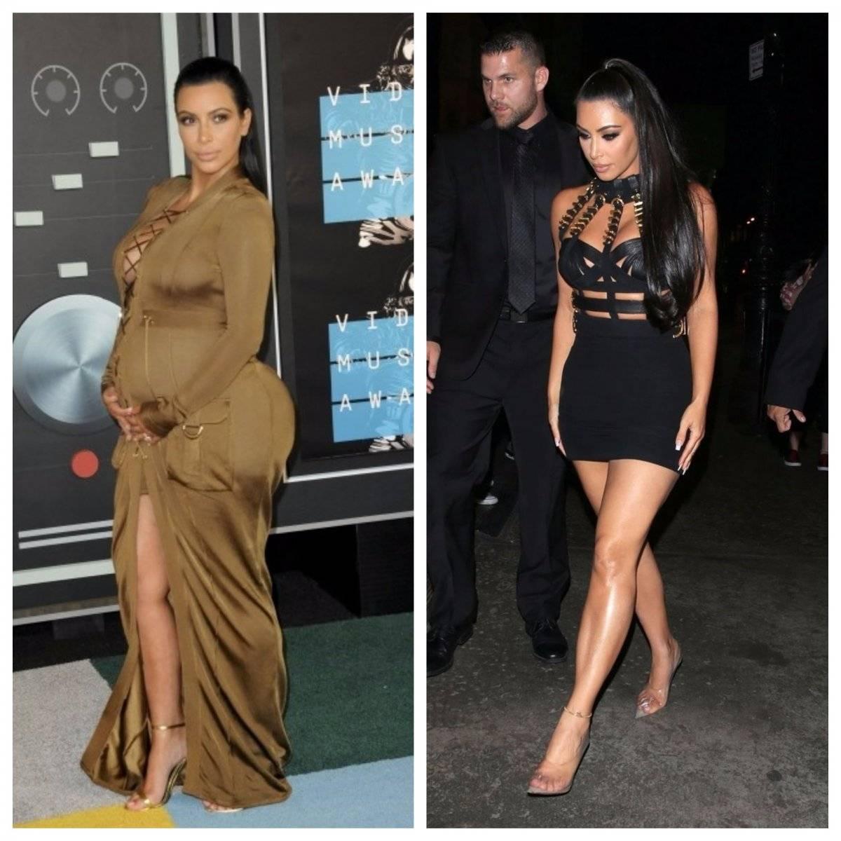 Kim Kardashian antes y ahora embarazo