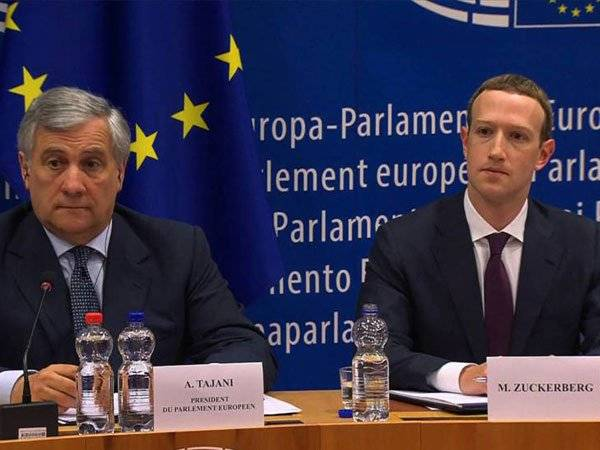 Mark Zuckerberg Facebook Unión Europea