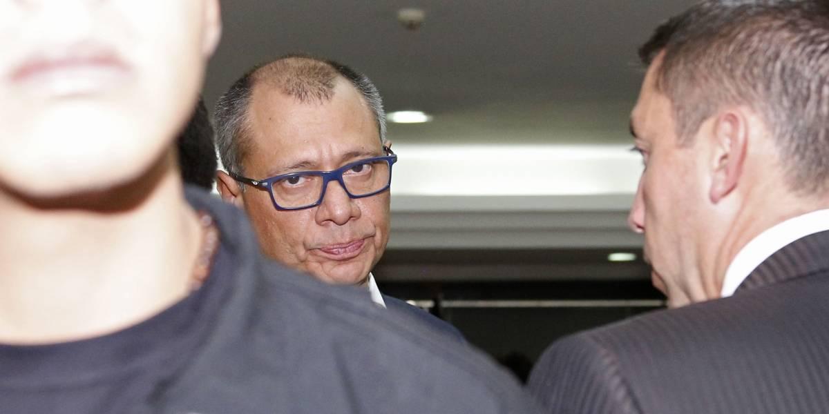 Exvicepresidente Jorge Glas inicia huelga de hambre en Ecuador