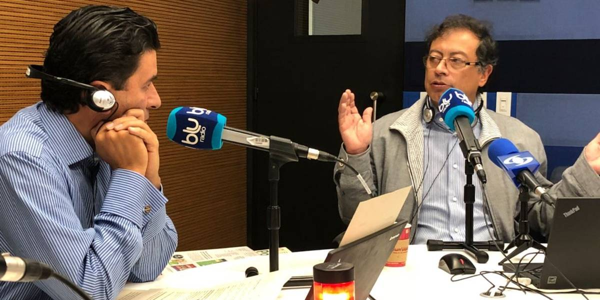 Petro le reclamó a Néstor Morales por hablar de su metro y criticó su periodismo