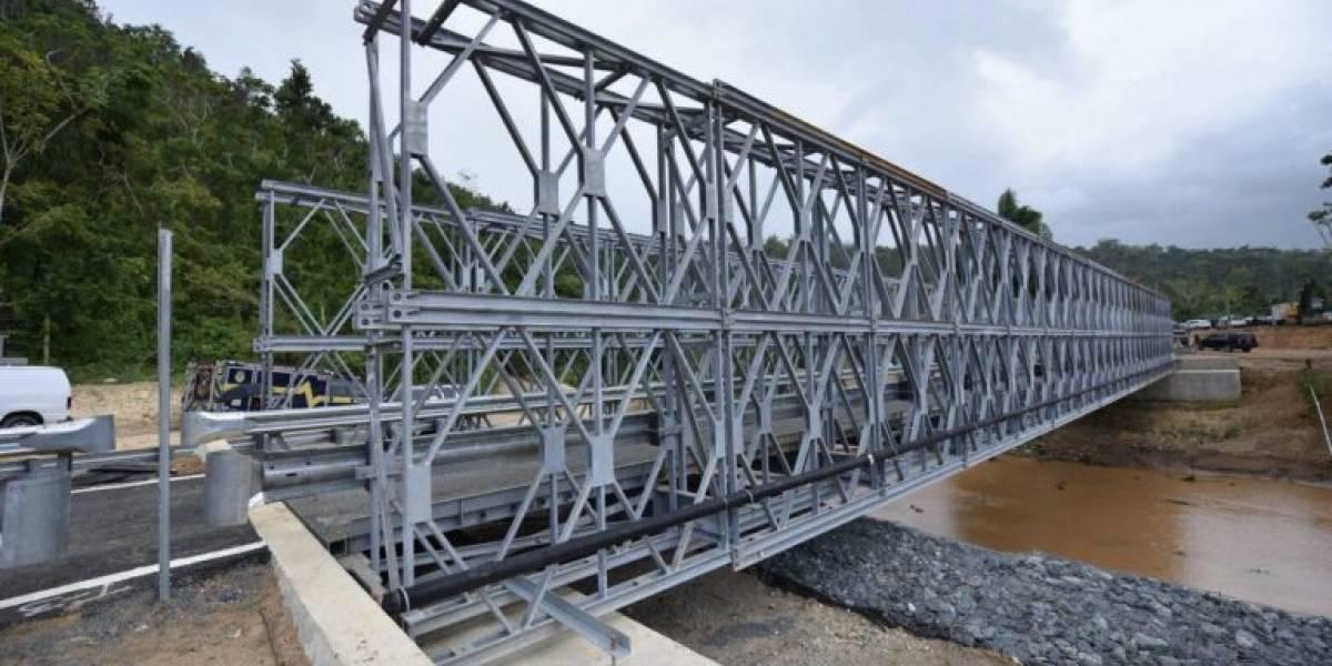 Gobernador inaugura puente en Arecibo