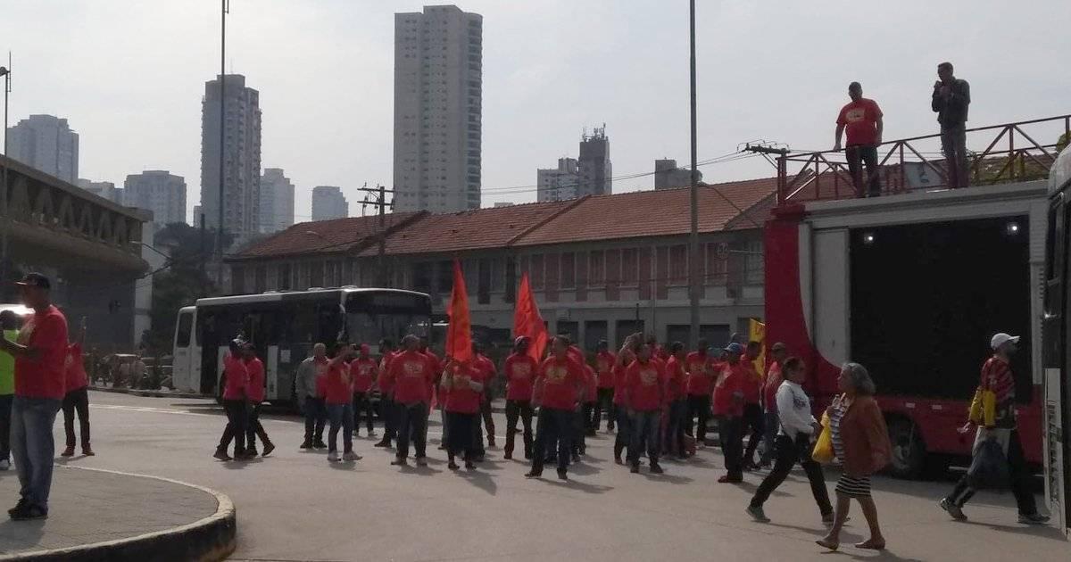 protesto ônibus sacomã