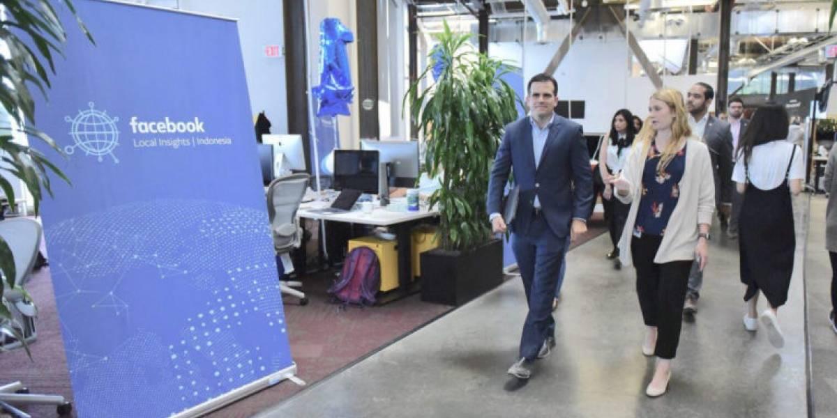 Gobernador anuncia eventos para negocios auspiciados por Facebook