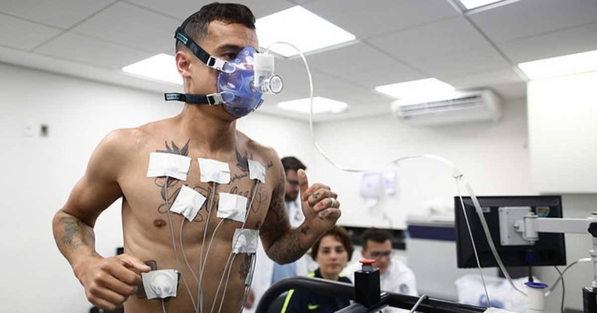 Philippe Coutinho nos testes físicos no novo Centro de Excelência da Granja Comary Lucas Figueiredo/CBF