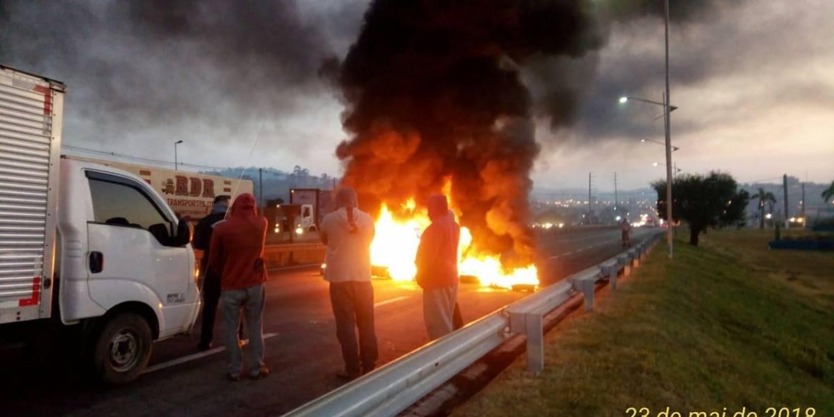 Rodovias de SP amanhecem mais uma vez com manifestação; veja onde estão os bloqueios