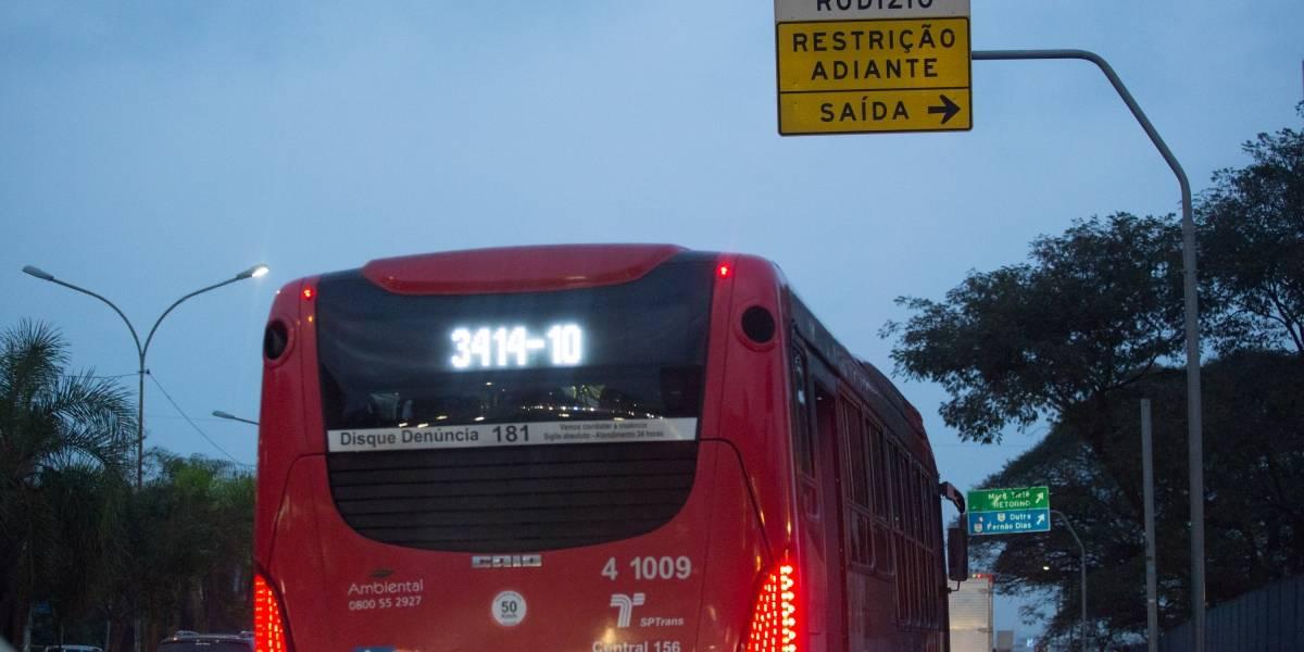 Em SP, 63% da frota de ônibus circulou no pico da manhã; rodízio segue suspenso