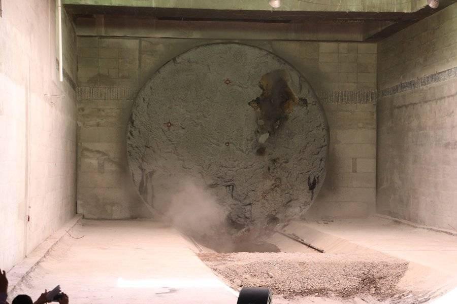 La tuneladora gira a 3.5 revoluciones por minutos. FOTO: Héctor Escamilla