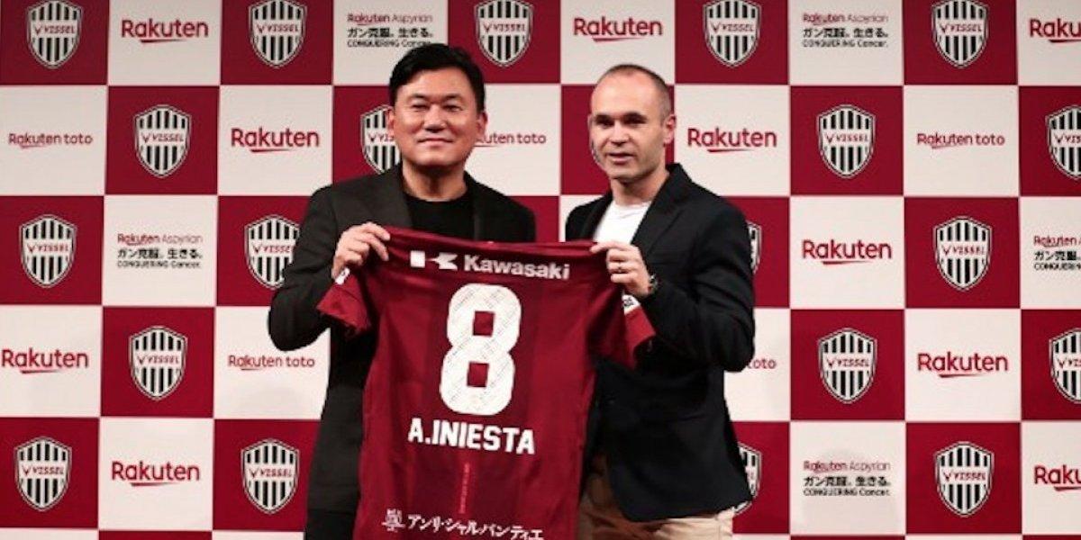VIDEO. Así fue la presentación de Andrés Iniesta con su nuevo club en Japón