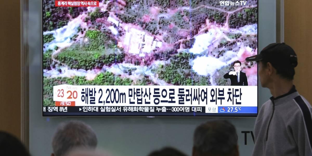 Corea del Norte destruye su base de pruebas nucleares