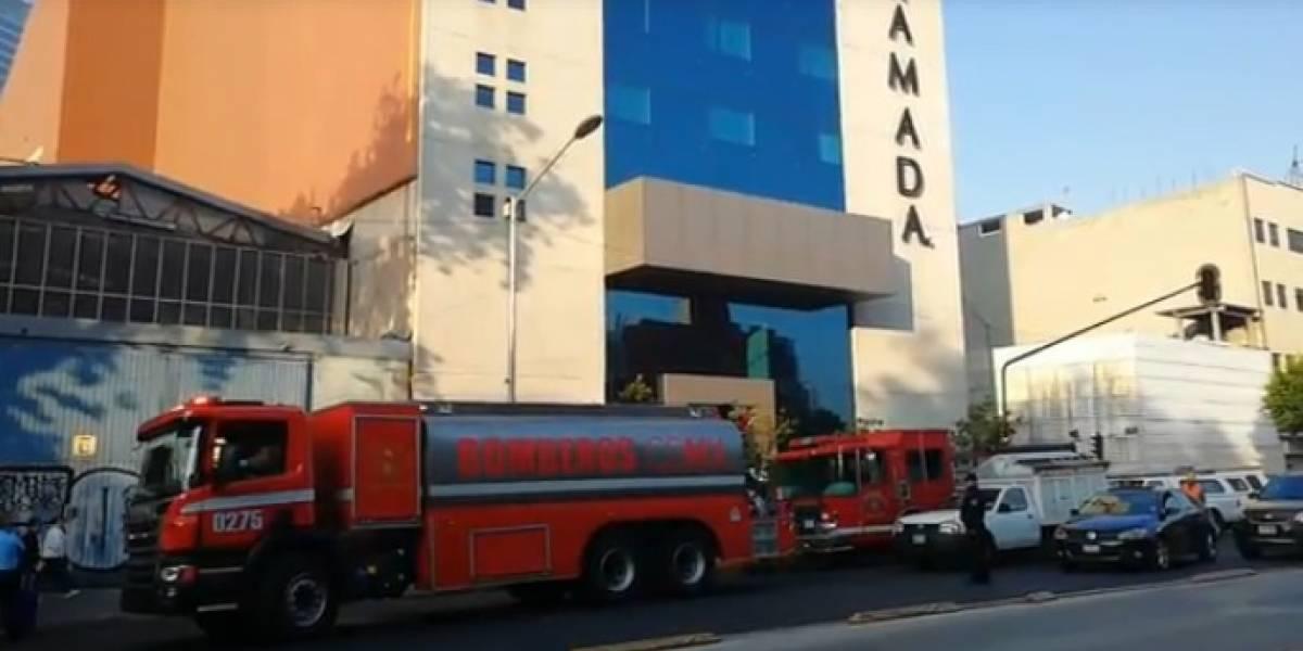 Se registra incendio en hotel de la colonia Tabacalera